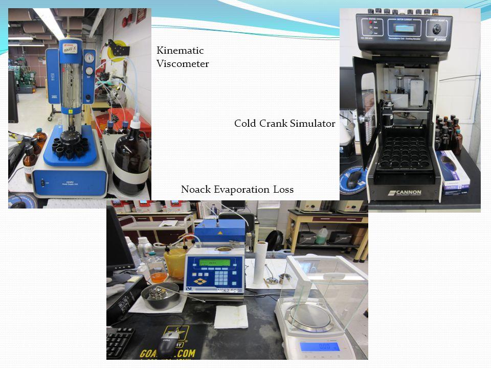 Kinematic Viscometer Noack Evaporation Loss Cold Crank Simulator