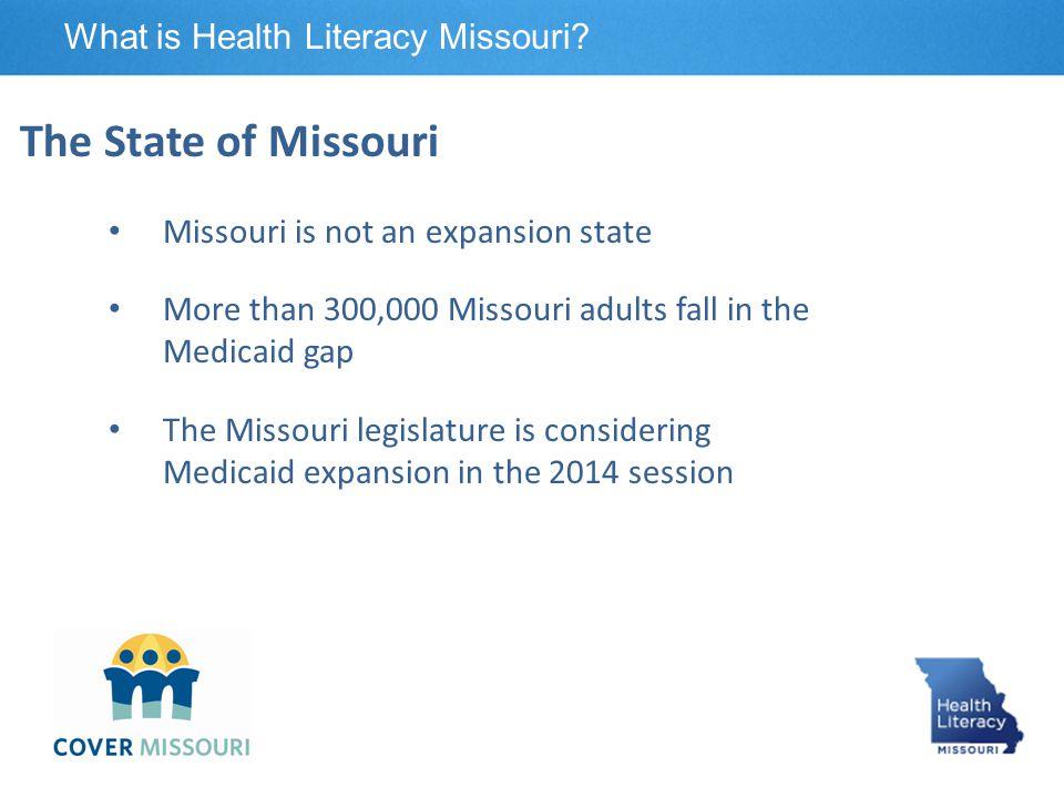 Cover Missouri Coalition What is Health Literacy Missouri.