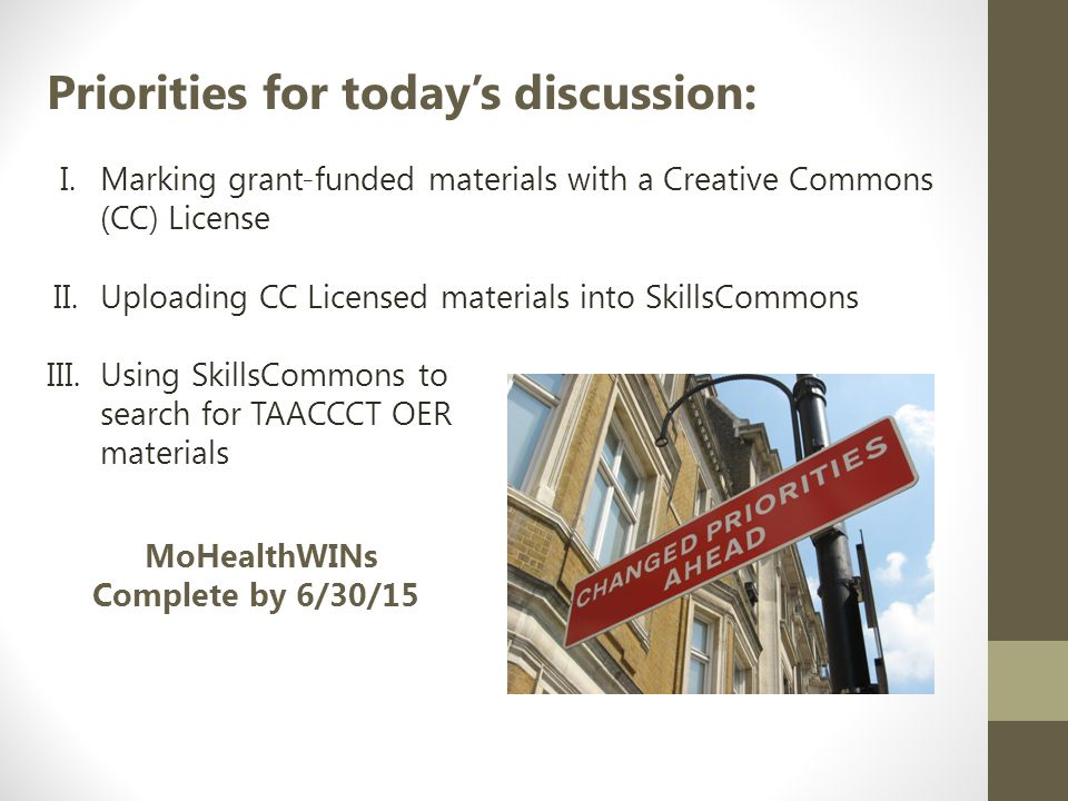 Submissions are the items you place into SkillsCommons Recommend submissions at the Program level.