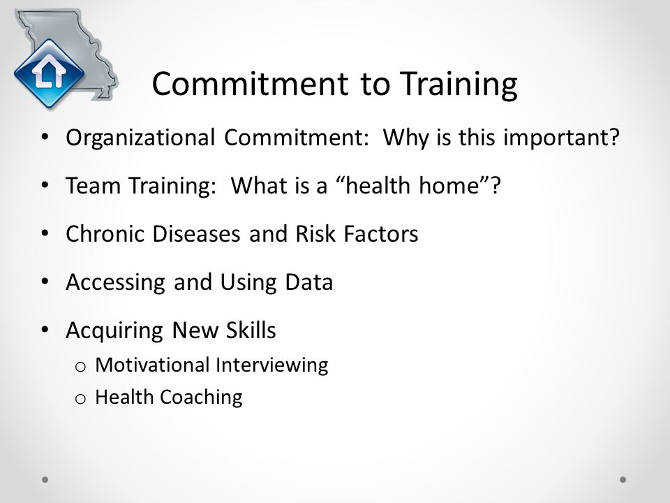 Commitment to Training Organizational Commitment: Why is this important.