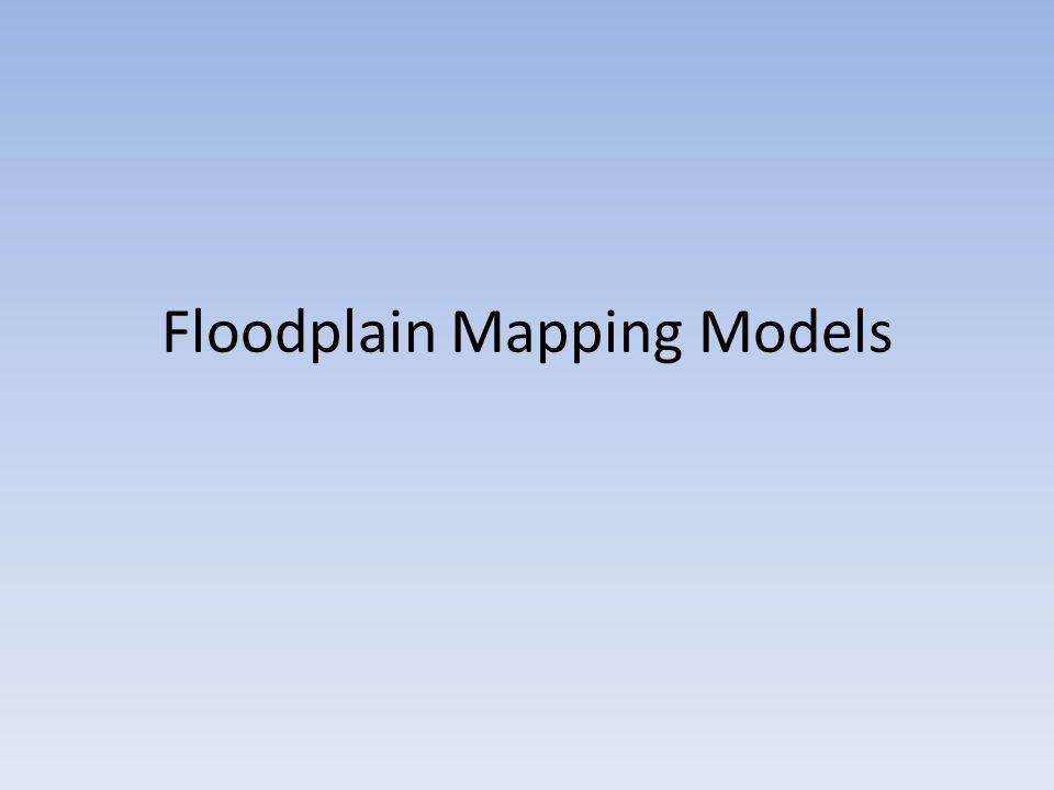 Floodplain Mapping Models