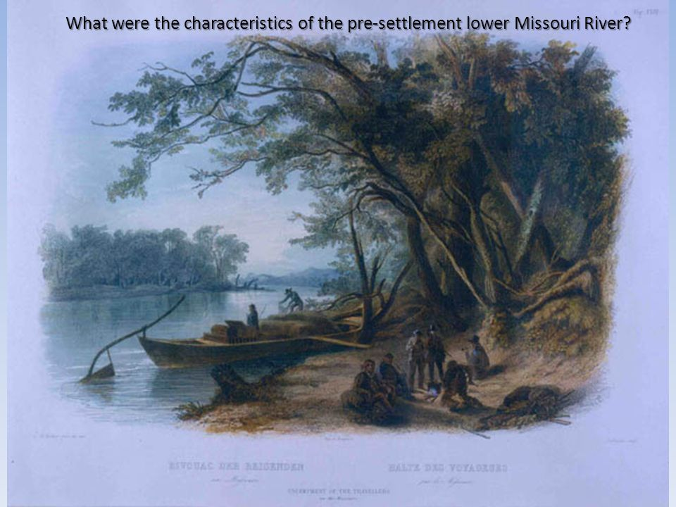 What were the characteristics of the pre-settlement lower Missouri River