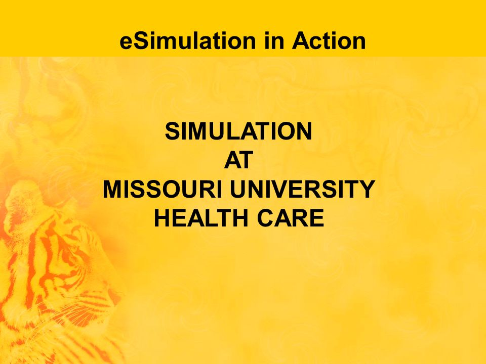 eSimulation in Action SIMULATION AT MISSOURI UNIVERSITY HEALTH CARE