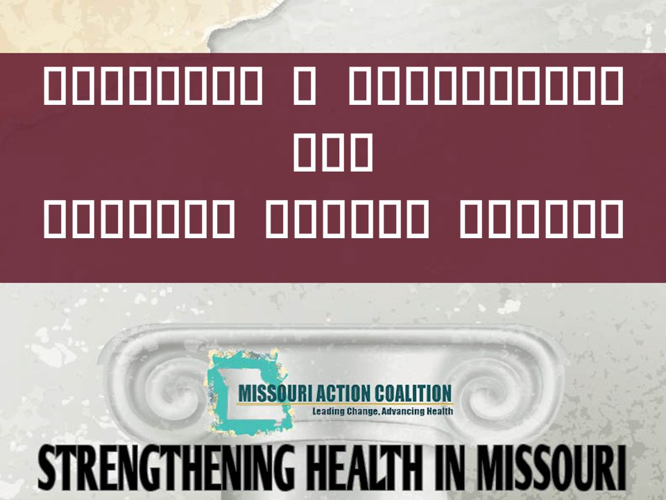 The Missouri Action Coalition  Partners  Mission: Leading change, advancing health for all Missourians