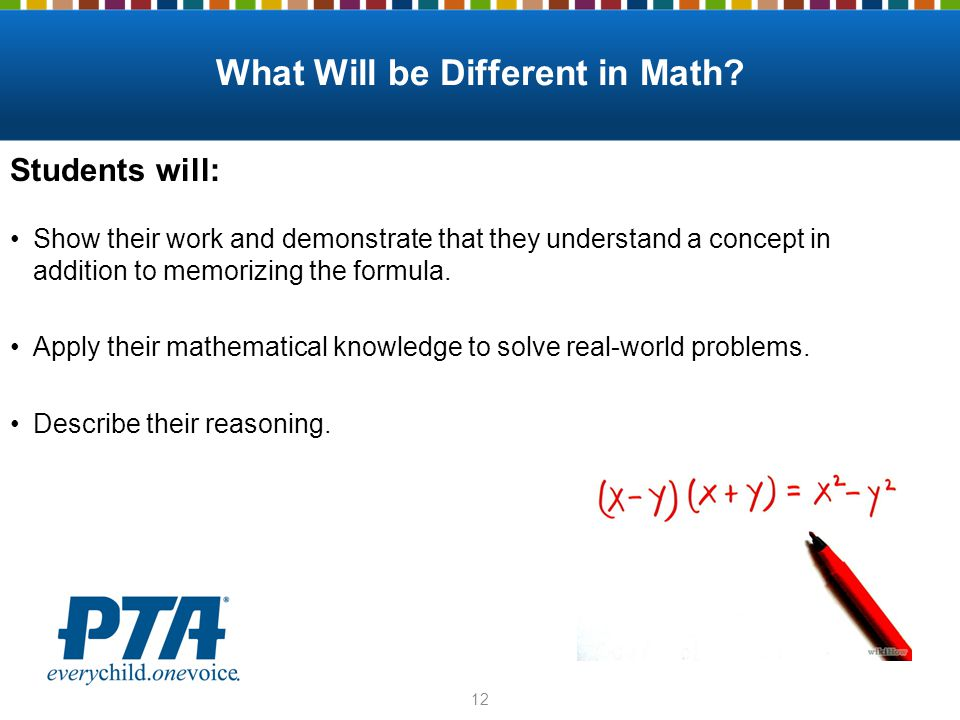 What Will be Different in Math.