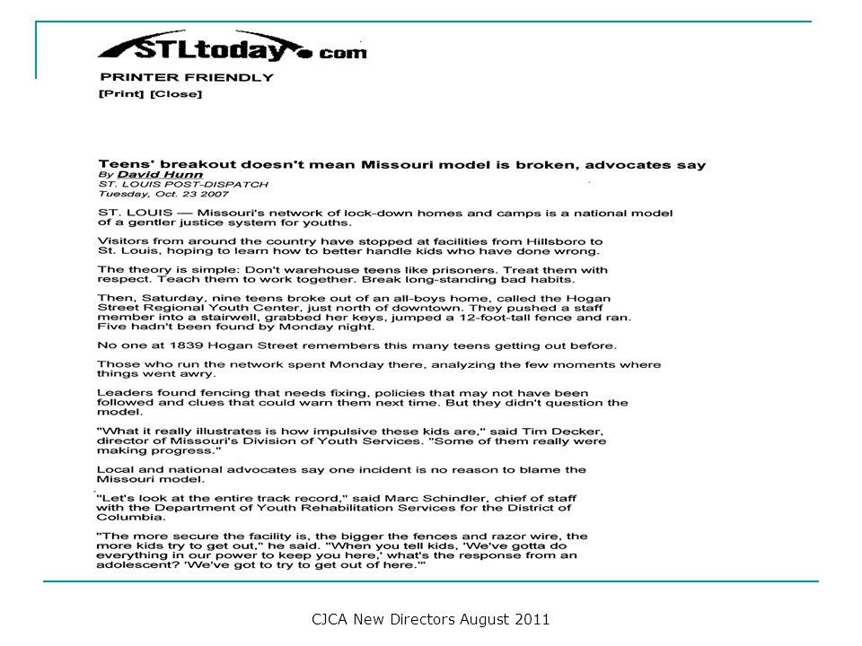 CJCA New Directors August 2011