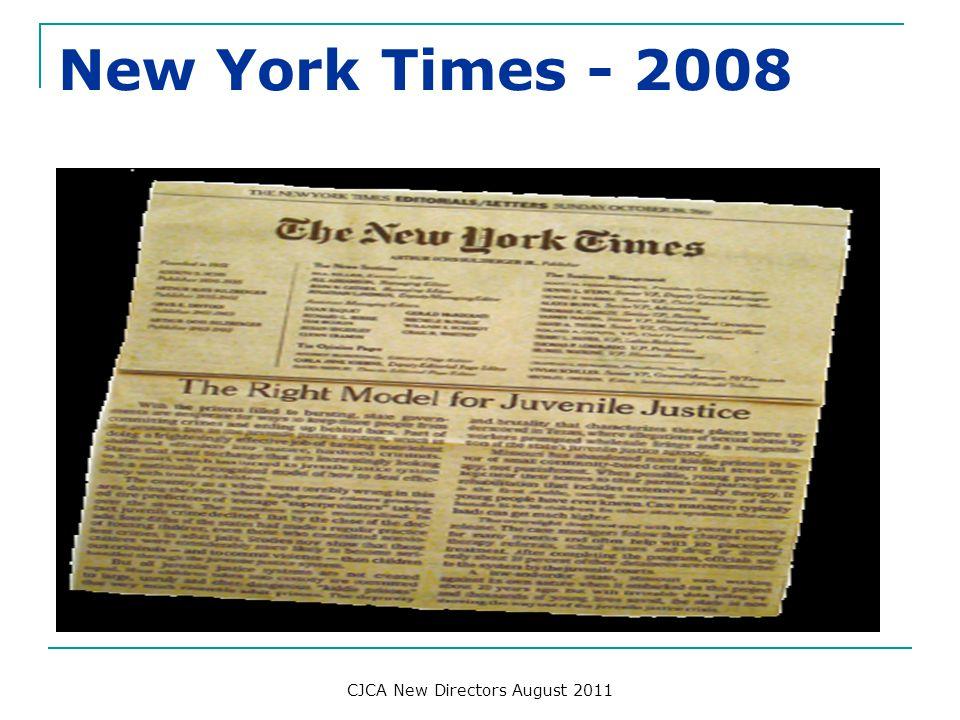 New York Times - 2008 CJCA New Directors August 2011