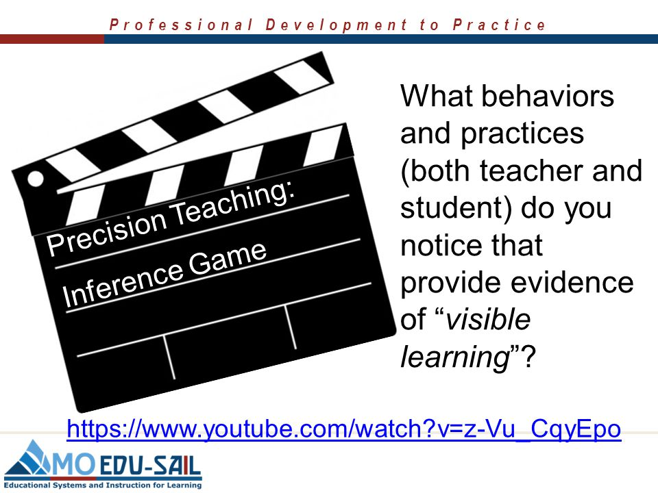 Professional Development to Practice Precision Teaching: Word Sort: Making The Learning Visible https://www.youtube.com/watch?v=tSoo0K5eMmI What behav