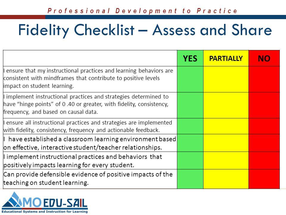 Professional Development to Practice Practice Profile