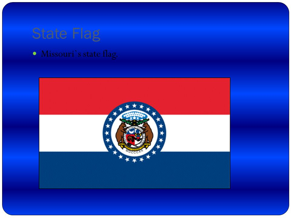 State nickname Missouri`s state nicknames are Show me state, Mother of the west,and Cave state.