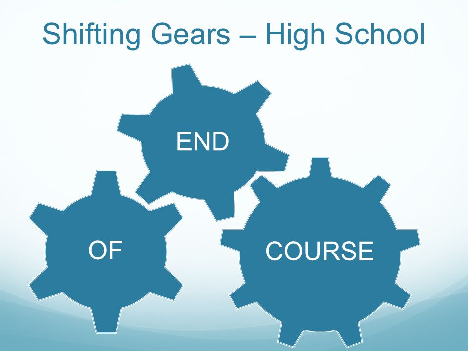 COURSE OF END Shifting Gears – High School