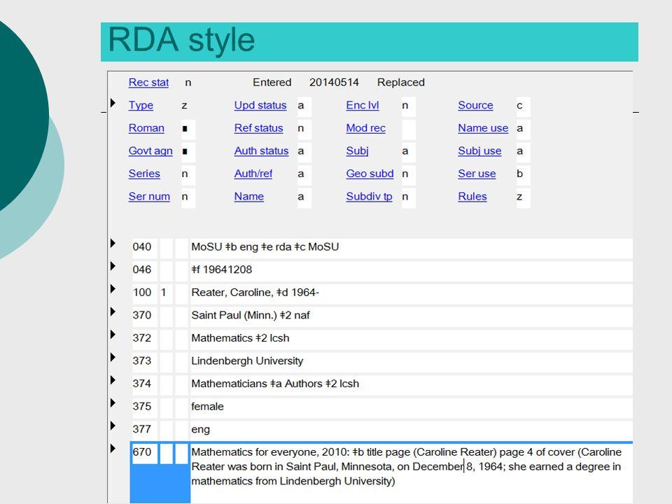 RDA style 49