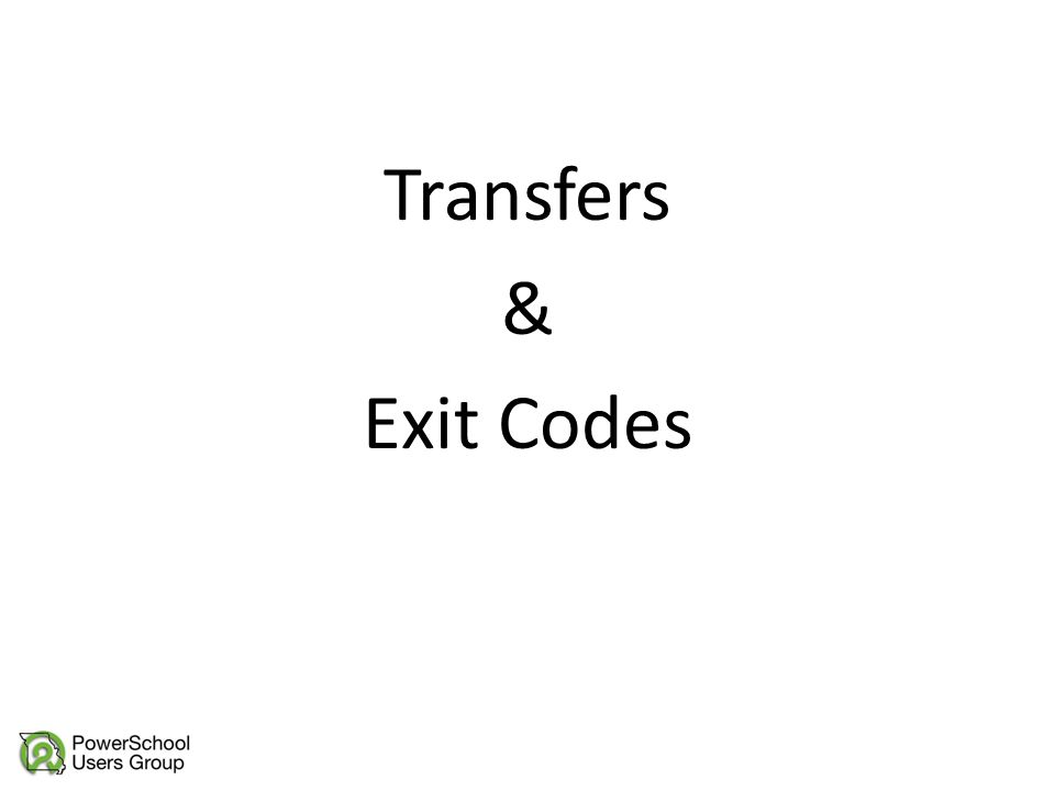 Transfers & Exit Codes