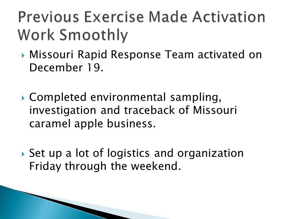  Missouri Rapid Response Team activated on December 19.