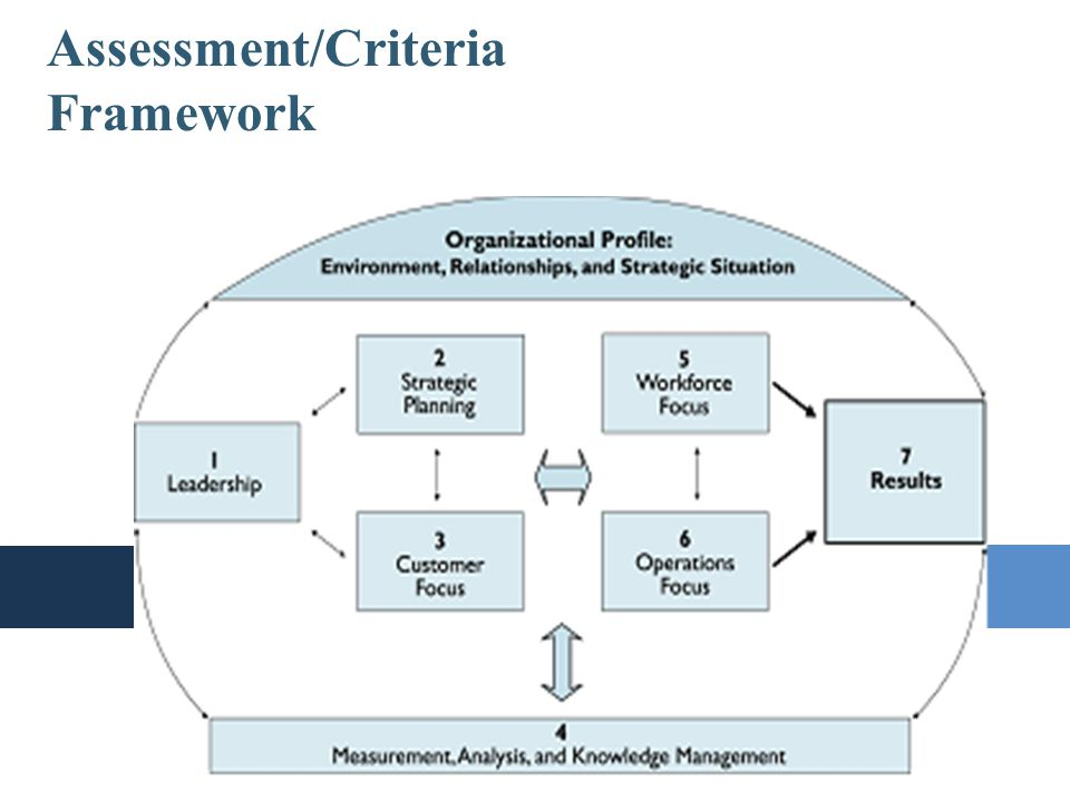 The Baldrige Burger Assessment/Criteria Framework