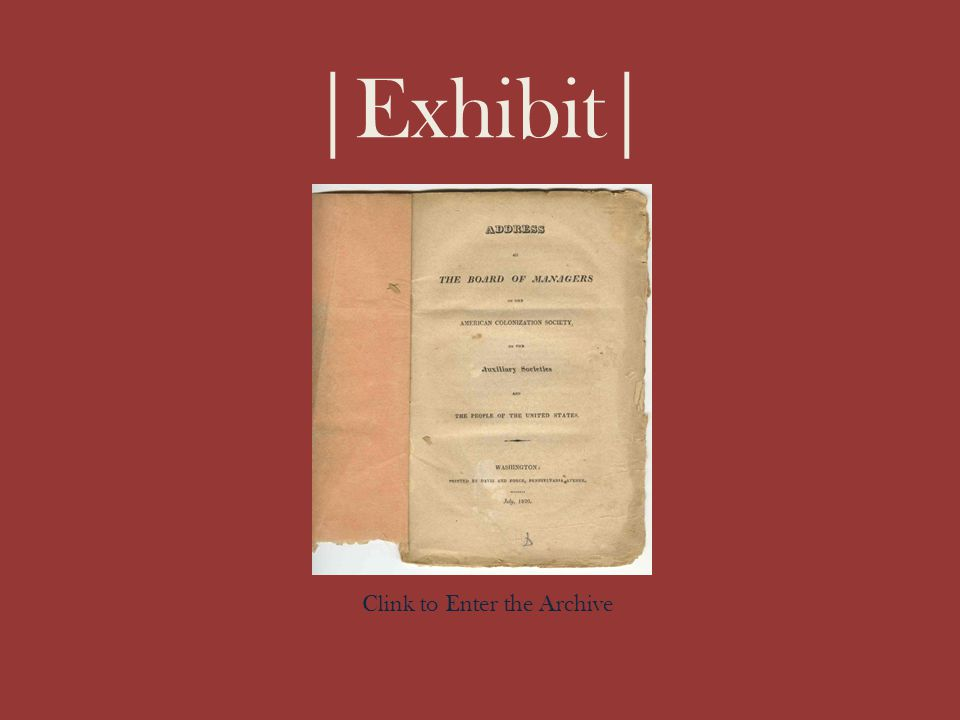 |Exhibit| Clink to Enter the Archive