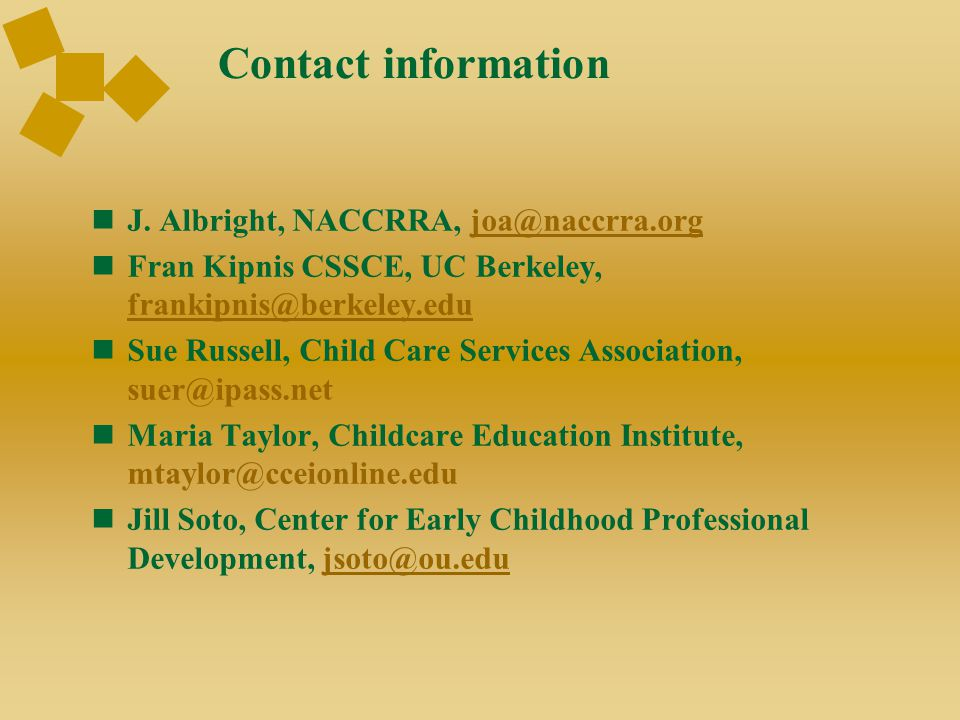 Contact information J.