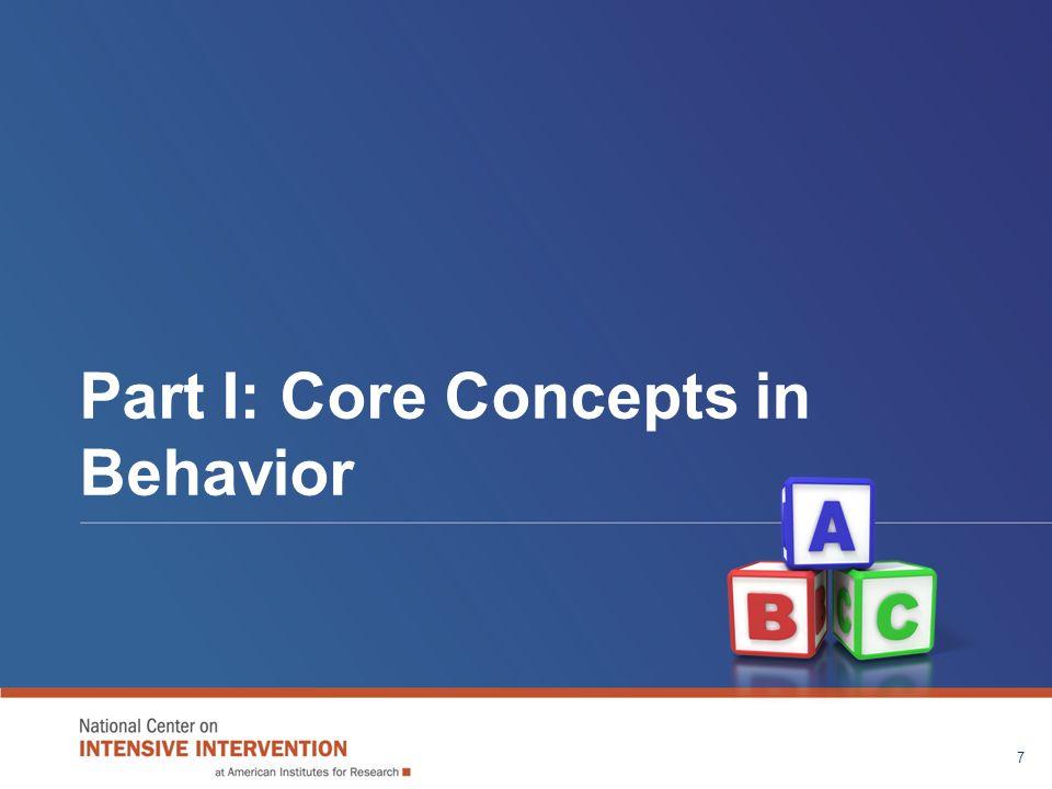 Part I: Core Concepts in Behavior 7