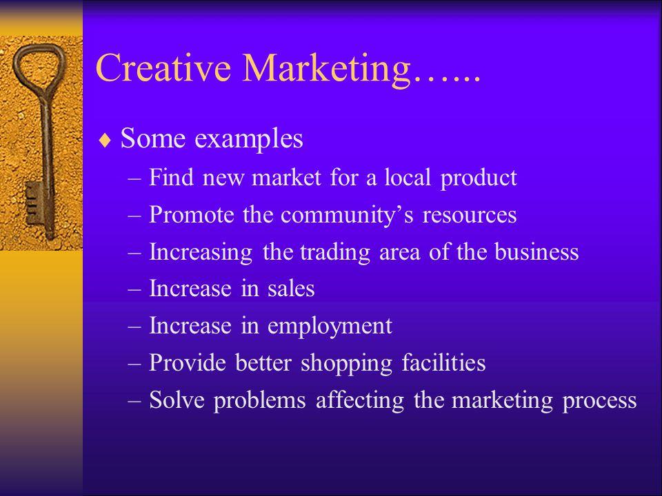 Creative Marketing…...