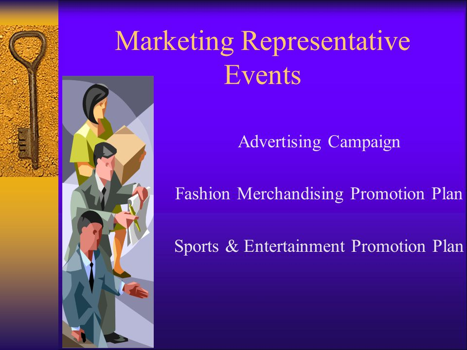 Marketing Representative Events Advertising Campaign Fashion Merchandising Promotion Plan Sports & Entertainment Promotion Plan