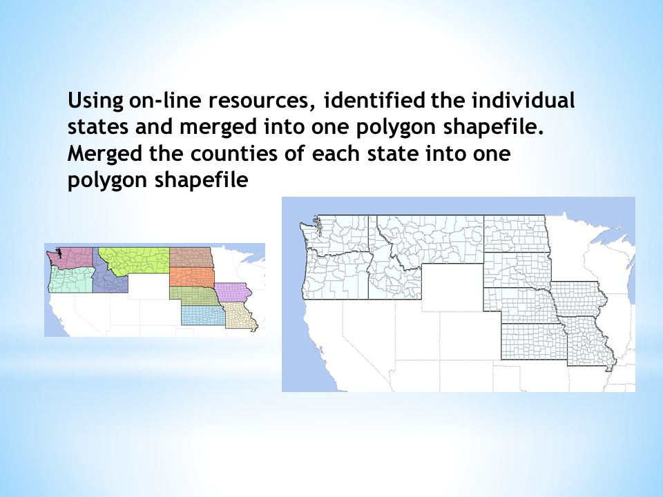 Using on-line resources, identified the individual states and merged into one polygon shapefile.