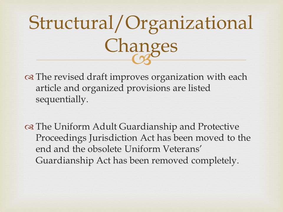   The revised draft improves organization with each article and organized provisions are listed sequentially.