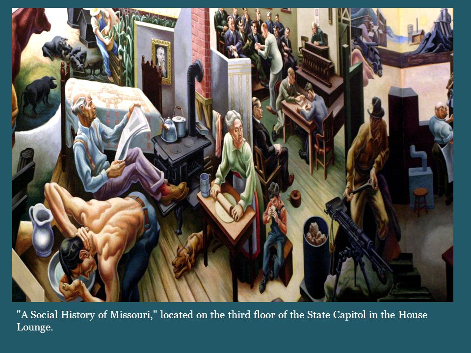 A Social History of Missouri, located on the third floor of the State Capitol in the House Lounge.