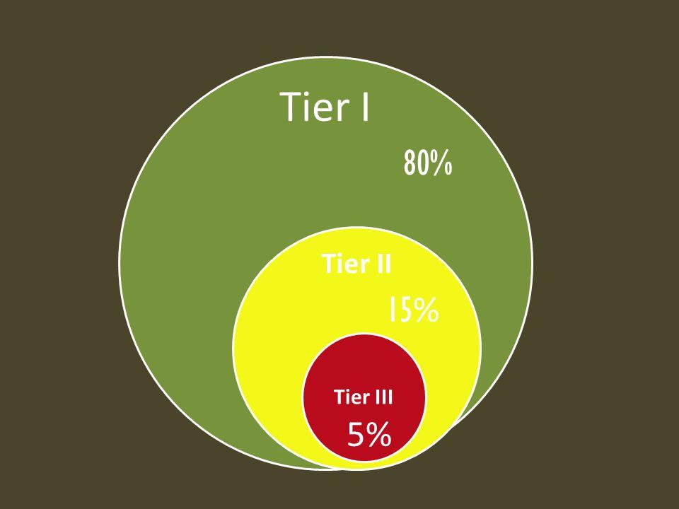 Tier I Tier II Tier III 80% 15 % 5%