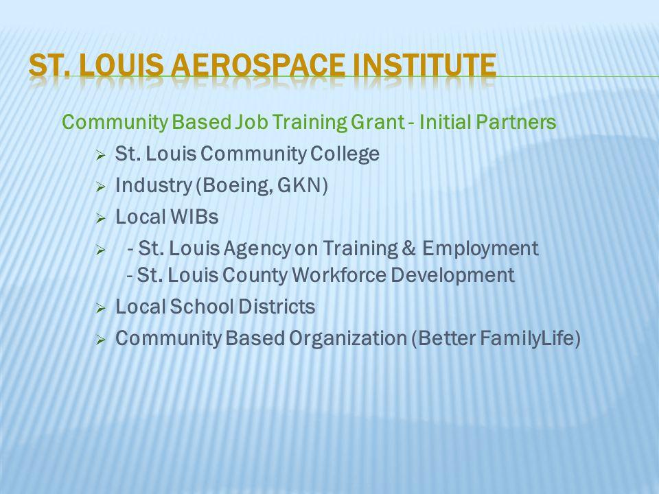 Community Based Job Training Grant - Initial Partners  St.