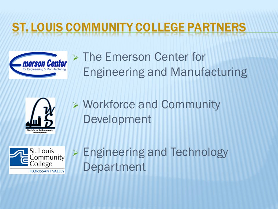 The Emerson Center for Engineering and Manufacturing  Workforce and Community Development  Engineering and Technology Department
