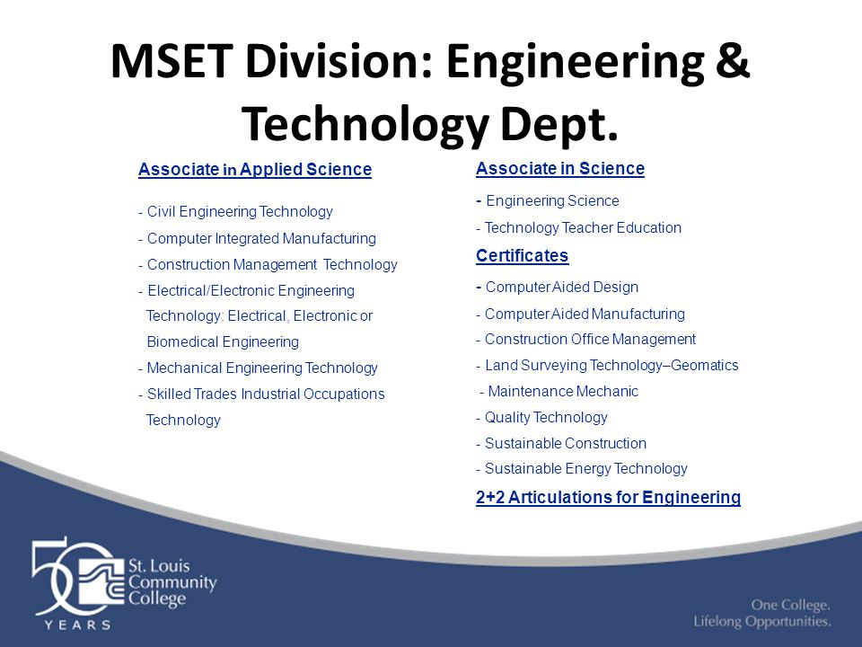 MSET Division: Engineering & Technology Dept.