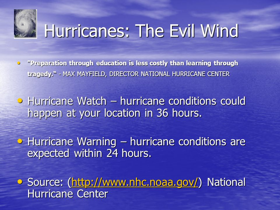 Hurricanes: The Evil Wind Hurricanes: The Evil Wind