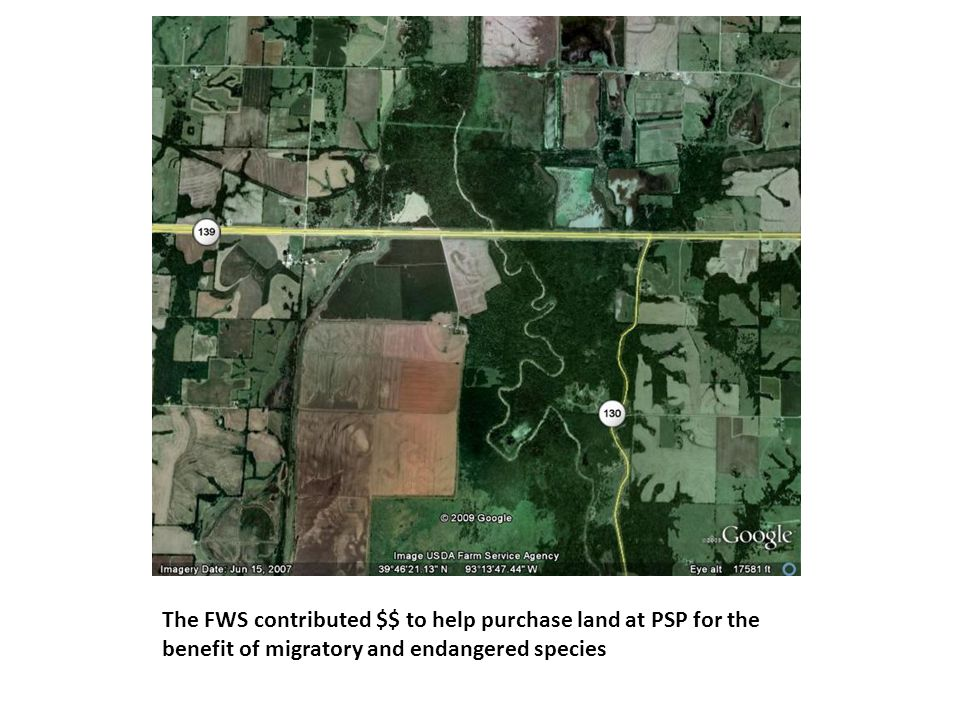 The FWS contributed $$ to help purchase land at PSP for the benefit of migratory and endangered species