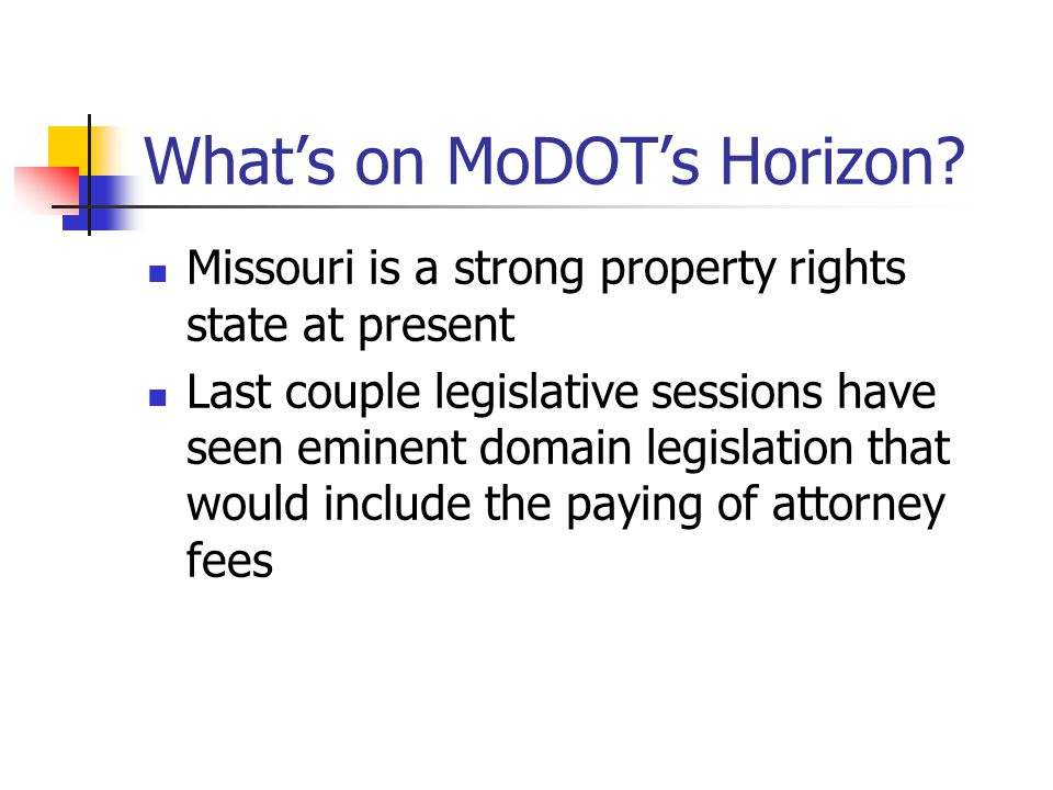 What's on MoDOT's Horizon.