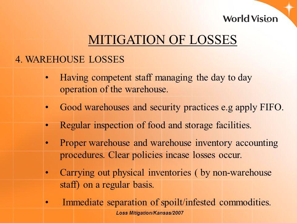 MITIGATION OF LOSSES 5.