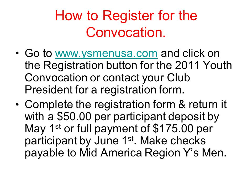 How to Register for the Convocation.
