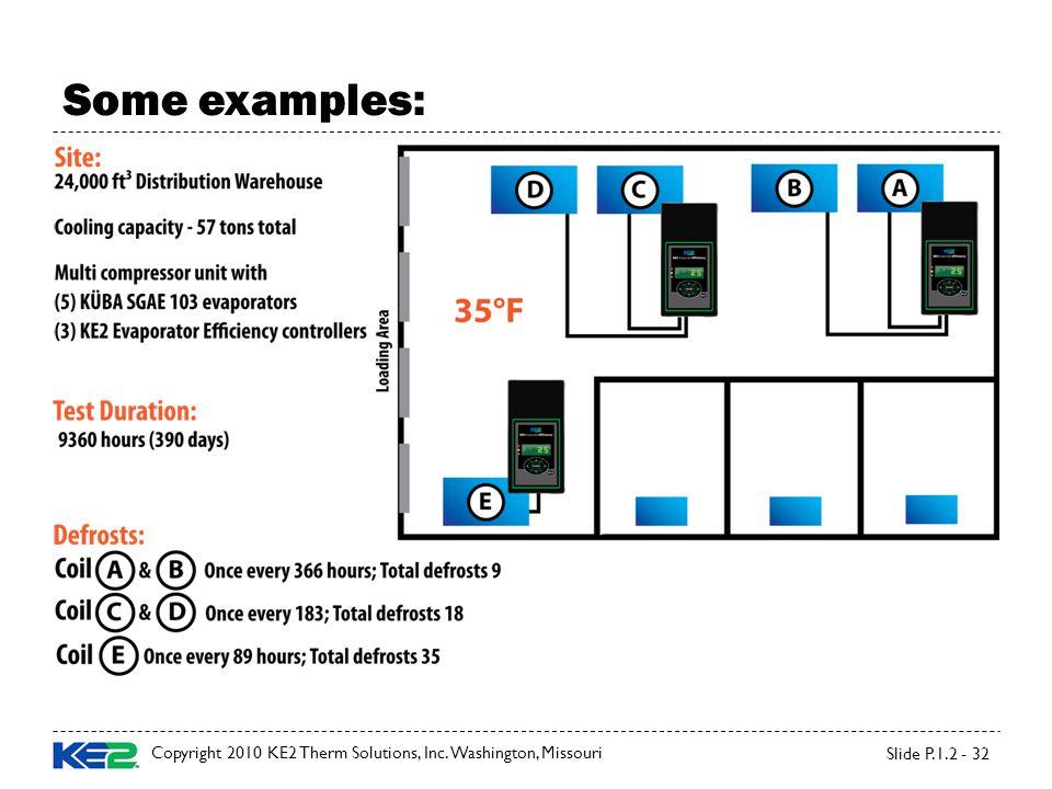 Copyright 2010 KE2 Therm Solutions, Inc. Washington, Missouri Slide P.1.2 - 32 Some examples: