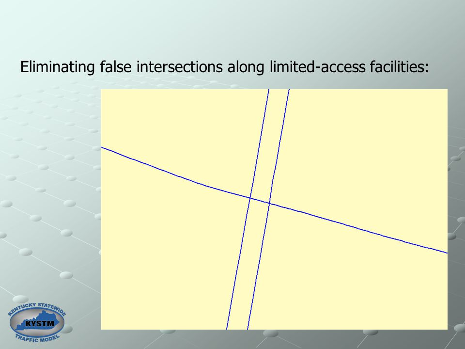 Eliminating false intersections along limited-access facilities: