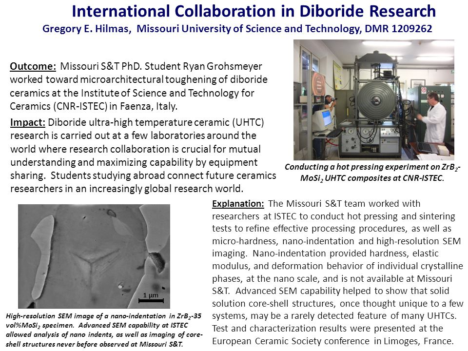 International Collaboration in Diboride Research Gregory E.