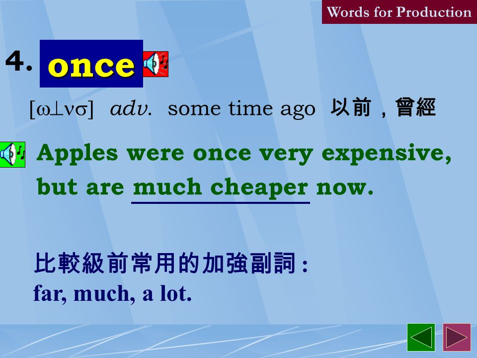 humorous [`hjum1r1s] adj. 幽默的,滑稽的 Try to see the humorous side of everything, and you'll be happier. Words for Production