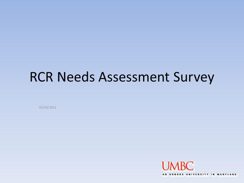 RCR Needs Assessment Survey 02/04/2011