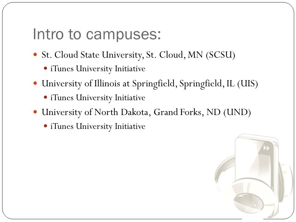 Intro to campuses: St.Cloud State University, St.