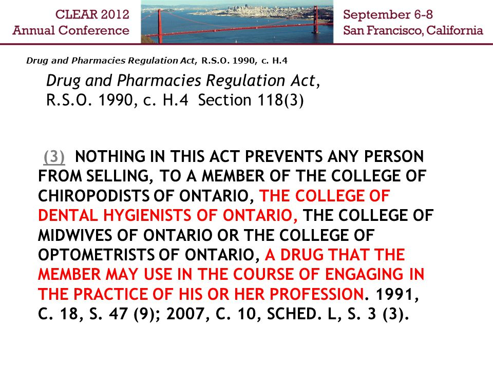 Drug and Pharmacies Regulation Act, R.S.O. 1990, c.