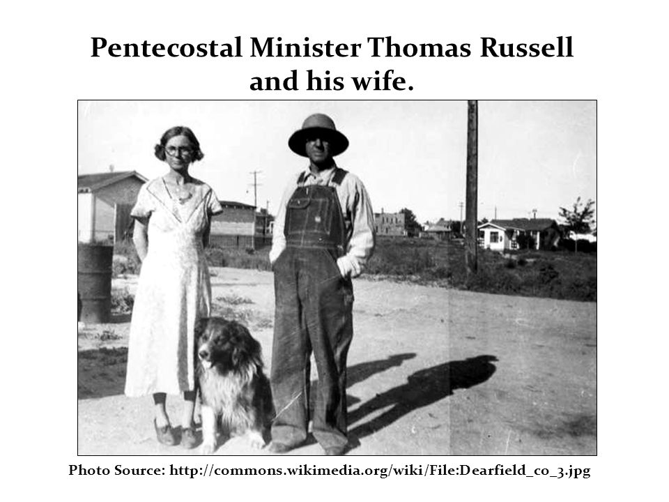 Pentecostal Minister Thomas Russell and his wife.