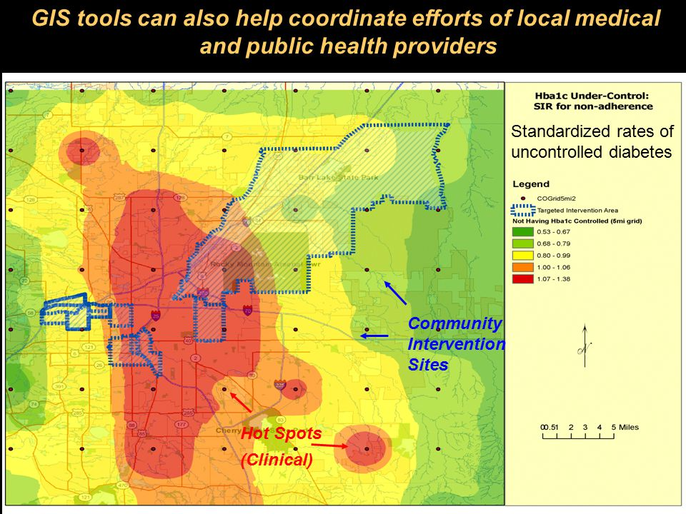 16 Fremont, 2008 GIS tools can also help coordinate efforts of local medical and public health providers Community Intervention Sites Hot Spots (Clini