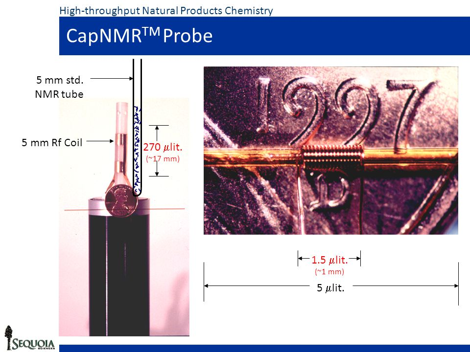 CapNMR TM Probe High-throughput Natural Products Chemistry 1.5  lit.