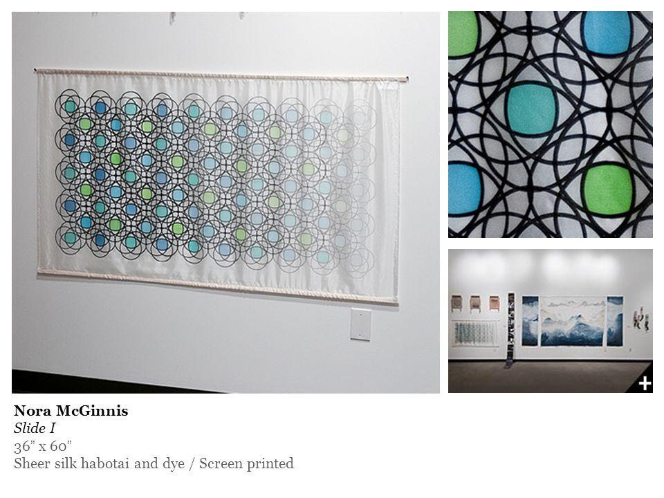 Nora McGinnis Slide I 36 x 60 Sheer silk habotai and dye / Screen printed