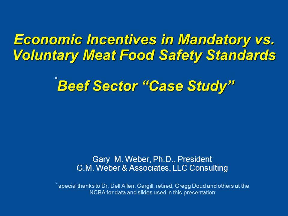 Economic Incentives in Mandatory vs.