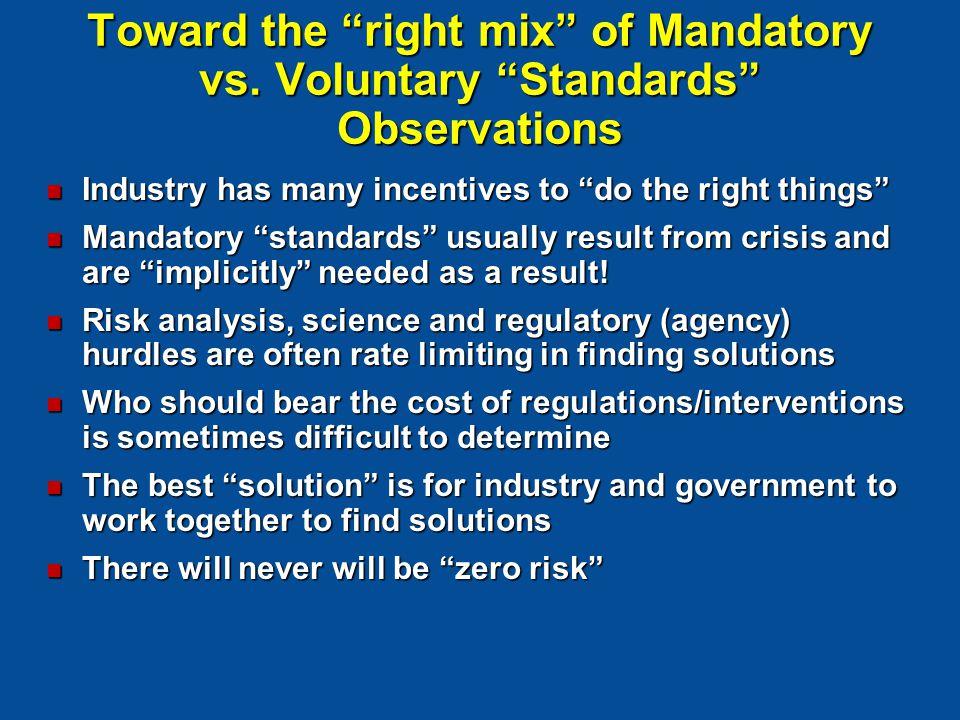 Toward the right mix of Mandatory vs.