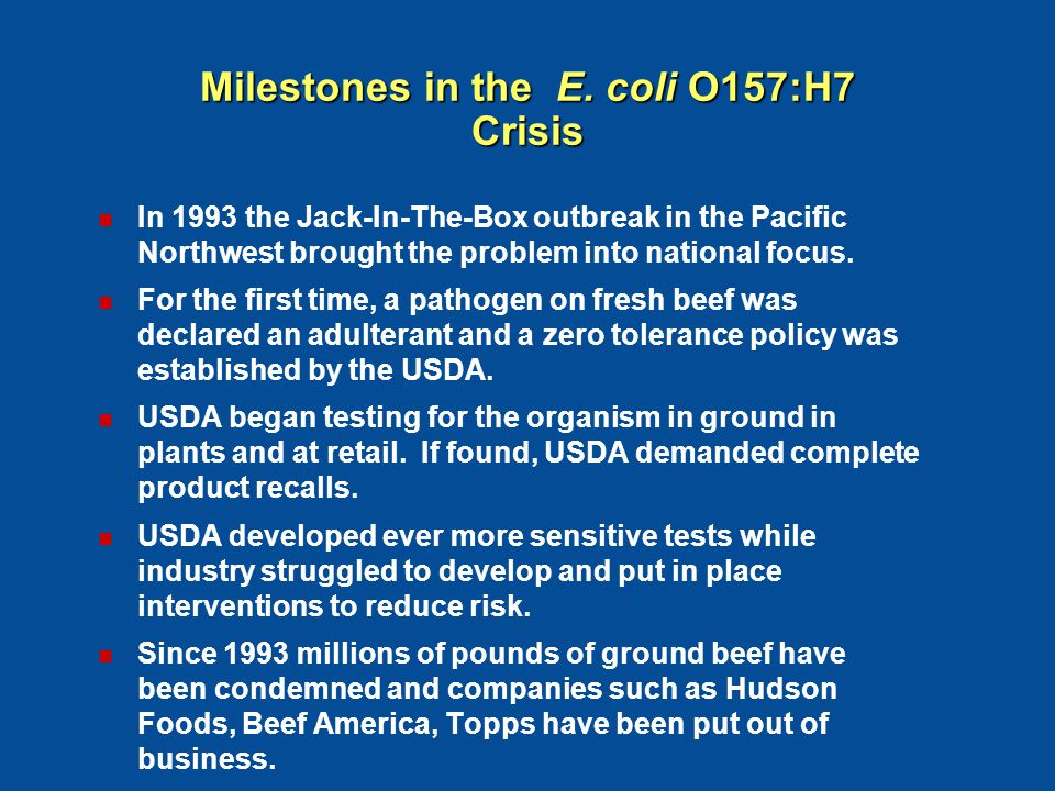 Beef Producers Supported the Debate and Development of Pathogen Reduction/Hazard Analysis & Critical Control Points Systems Beef Producers Supported the Debate and Development of Pathogen Reduction/Hazard Analysis & Critical Control Points Systems PR/ HACCP Final Rule (9 CFR Chapter III) (9 CFR Chapter III) July 1996 July 1996